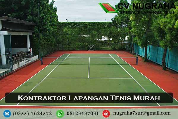 kontraktor lapangan tenis murah
