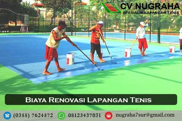 biaya renovasi lapangan tenis
